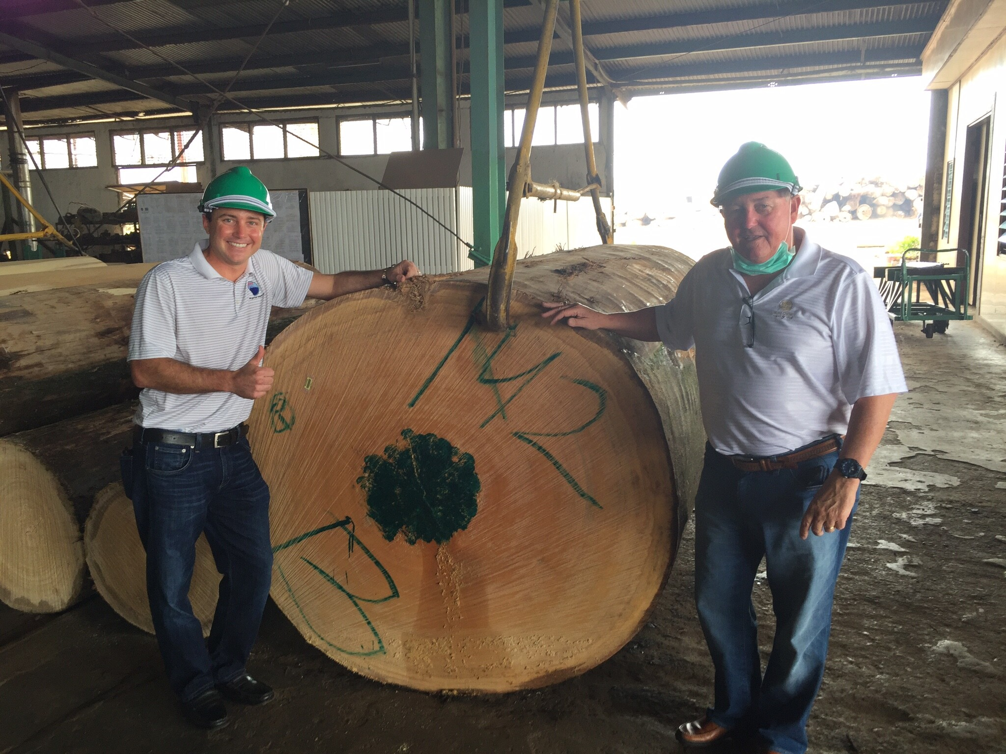 Robert and Don Sourcing Meranti logs in Indonesia